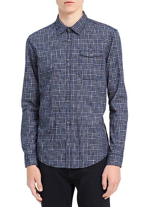 Calvin Klein Long Sleeve Space Dyed Check Shirt