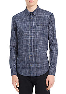 Long Sleeve Space Dyed Check Shirt