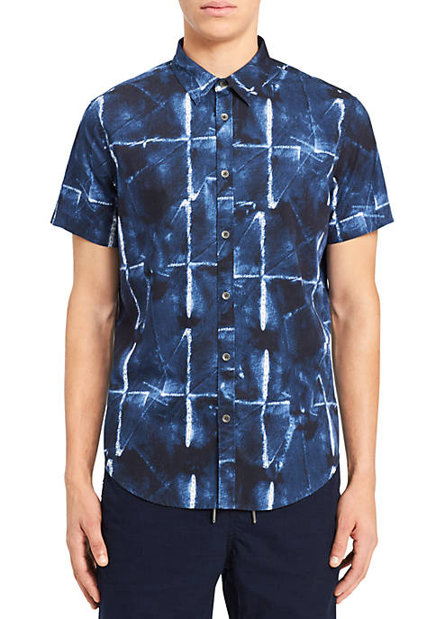 Calvin Klein Jeans Abstract Grid Print Shirt