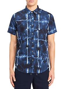 Abstract Grid Print Shirt