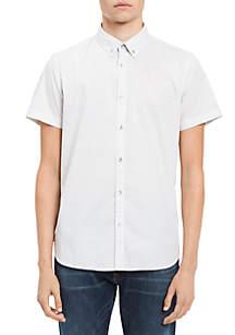 Micro Dot Print Short Sleeve Shirt