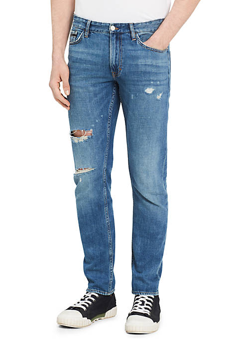 Calvin Klein Jeans Slim Fit Dog Patch Blue