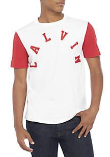 Short Sleeve Calvin Logo Baseball Tee