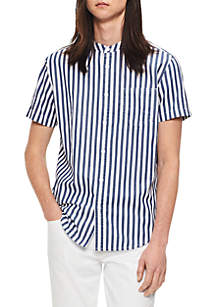 Short Sleeve Cruize Stripe Button Down Shirt