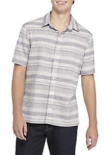 Short Sleeve Slub Chambray Shirt