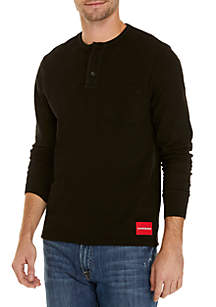 Long Sleeve Heavyweight Slub Henley Shirt