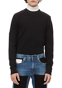 Calvin Klein Jeans Long Sleeve Waffle Crew Neck Top