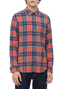 Calvin Klein Jeans Long Sleeve Jackson Check Flannel Woven Shirt