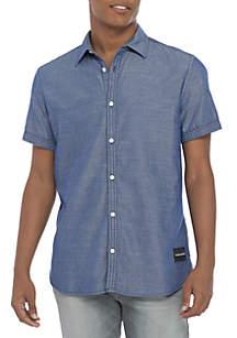 Short Sleeve Woven Oxford Shirt