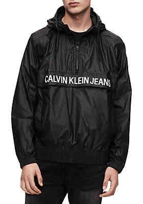449d29d0040b Calvin Klein Jeans Logo Windbreaker ...