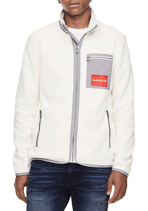Calvin Klein Jeans Polar Zip Fleece Jacket