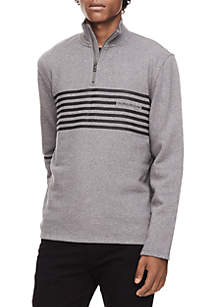 Engineered Stripe Logo 1/4 Sweatshirt