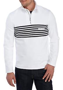 Engineered Stripe Logo 1/4 Sweatshirt