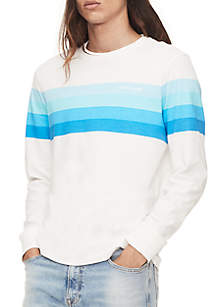 Gradient Stripes Long Sleeve T Shirt