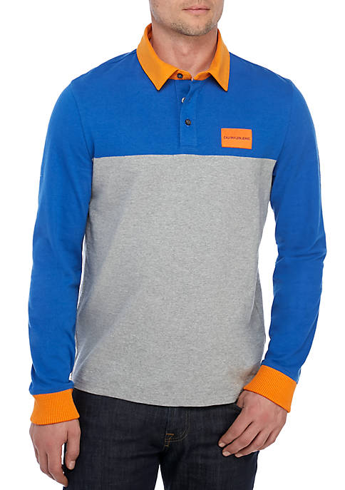 Long Sleeve Institutional Logo Rugby Shirt