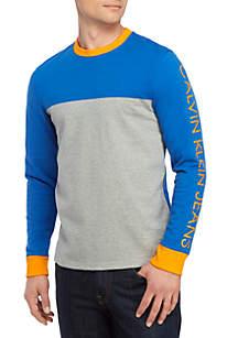 Calvin Klein Jeans Logo Block Long Sleeve T Shirt