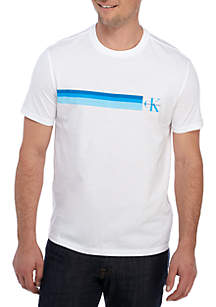 Short Sleeve Gradient Stripe T-Shirt