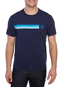 Short Sleeve Gradient Stripe T-Shirt