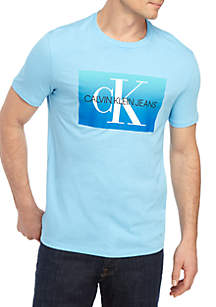 Calvin Klein Jeans Dip Dye Gradient Short Sleeve T Shirt