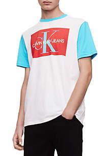 Calvin Klein Jeans Contrast Sleeve Ringer Short Sleeve T Shirt