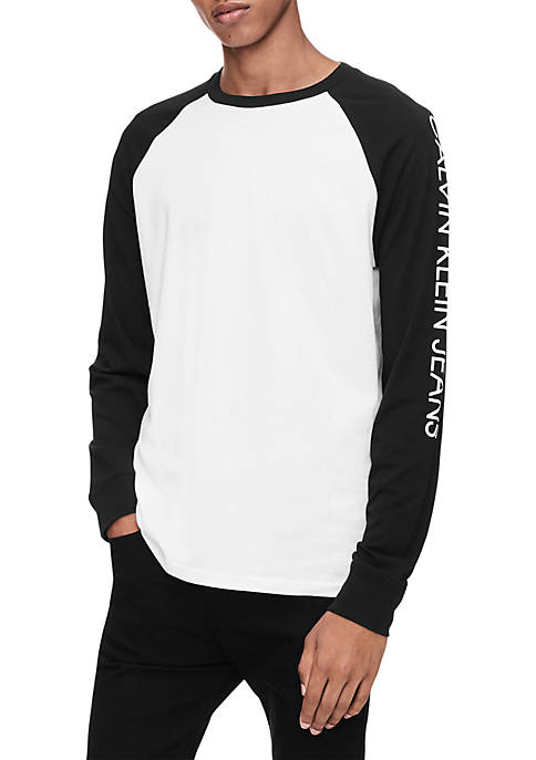 Calvin Klein Jeans Contrast Sleeve Raglan Crew Tee