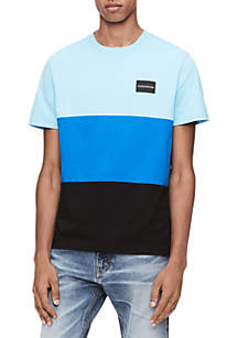 Global Colorblock Crew Neck Tee