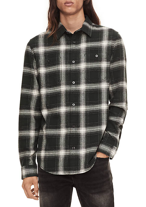 Calvin Klein Jeans Long Sleeve Winter Plaid Shirt