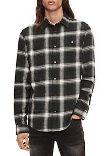 Long Sleeve Winter Plaid Shirt