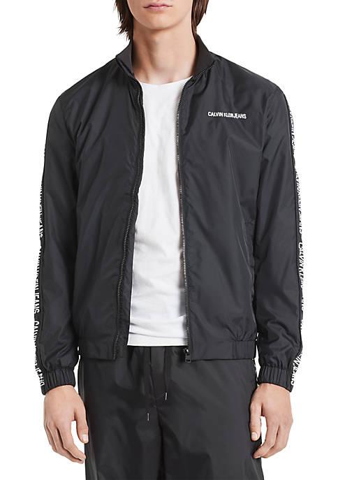 Calvin Klein Jeans Taped Logo Nylon Jacket