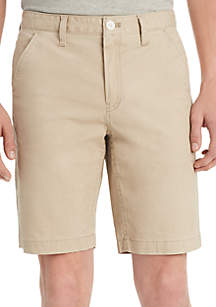 Calvin Klein Jeans Twill Flat Front Shorts