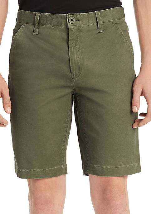 Twill Flat Front Shorts