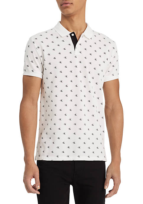 Calvin Klein Jeans Monogram Short Sleeve Polo
