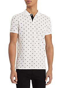 Calvin Klein Jeans Monogram Short Sleeve Polo