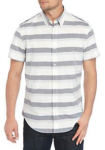 Calvin Klein Jeans Graphic Stripe Button Down Shirt
