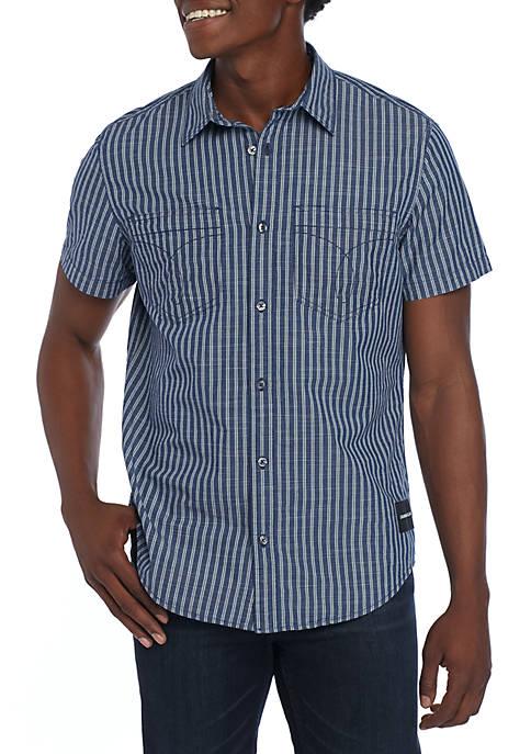 Double Grid Stripe Shirt