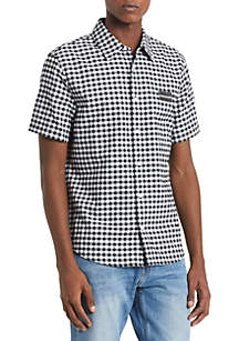 Calvin Klein Jeans Gingham Regular Fit Short Sleeve Shirt