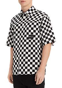 Calvin Klein Checkerboard Relaxed Short Sleeve Shirt
