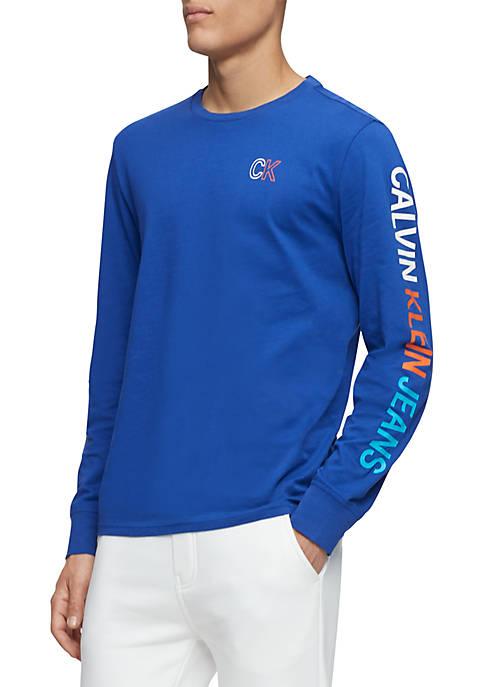 Long Sleeve Outline Logo T Shirt