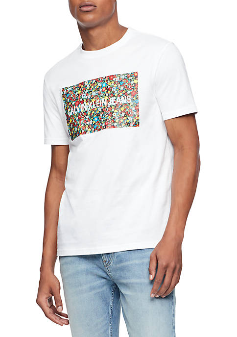 Patch Floral Box Logo Tee