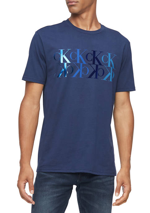Calvin Klein Reflection Logo Short Sleeve Graphic T-shirt