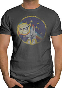 Changes NASA Space Shuttle and Star Logo Short Sleeve T-Shirt