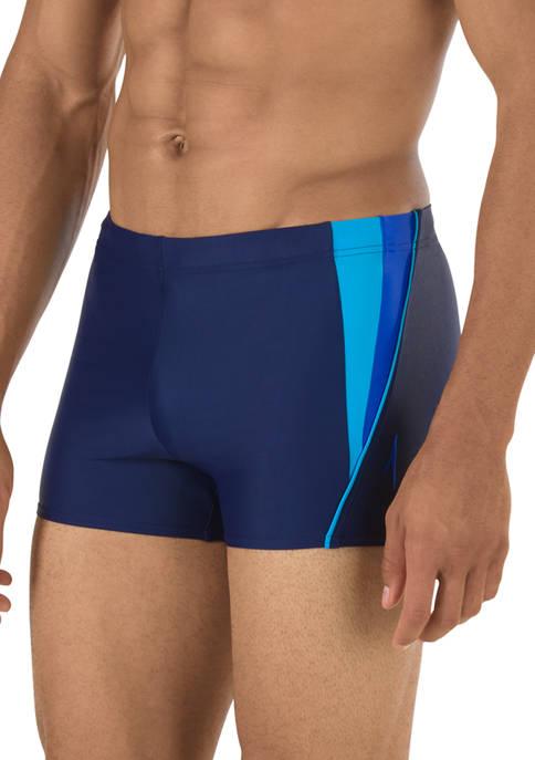 speedo® Fitness Splice Square Leg Swim Trunks