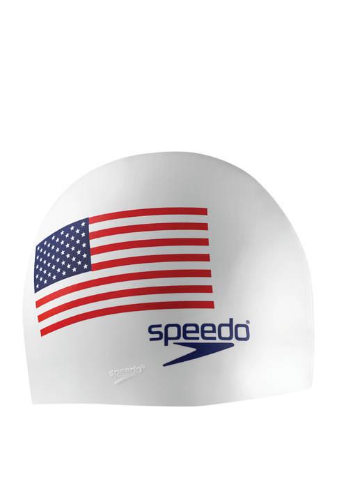 Mens Silicone Flag Swim Cap