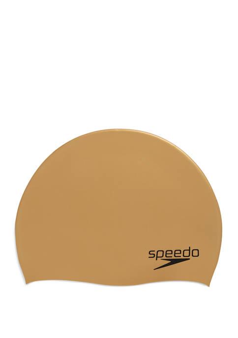 speedo® Mens Elastomeric Solid Silicone Swim Cap