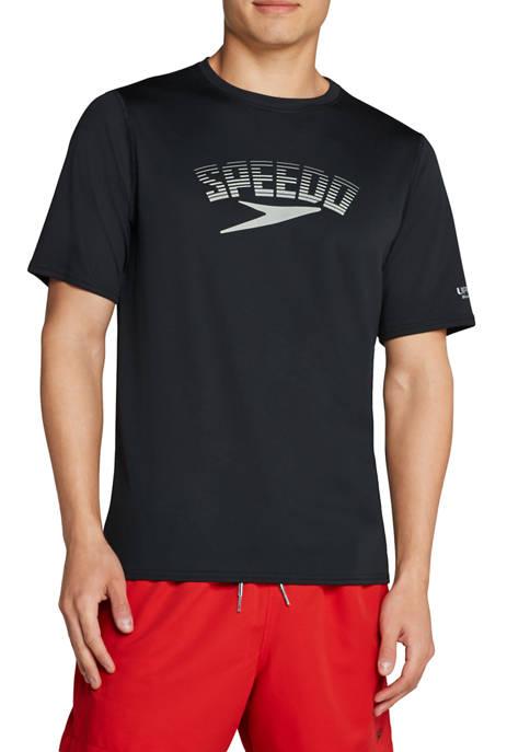 speedo® Short Sleeve Graphic Swim Rash Guard