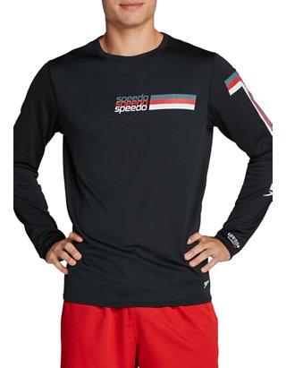 Speedo Vintage Collection Logo Long Sleeve Crew T-Shirt