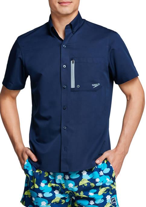 speedo® Short Sleeve Solid Paddle Shirt