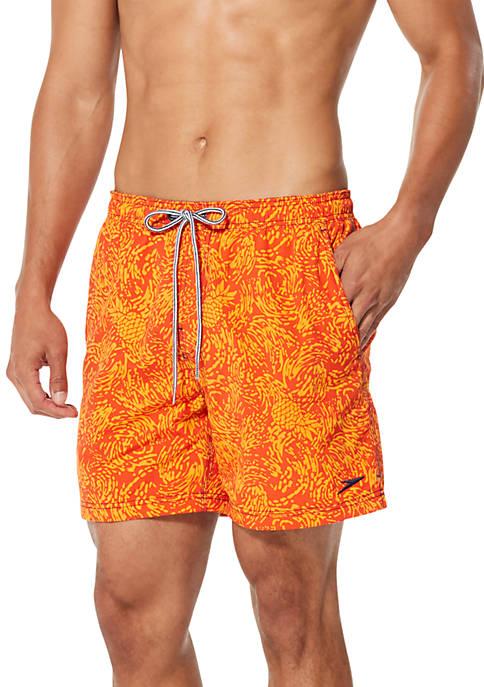450498068df speedo® Pineapple Splash Print Swim Trunks