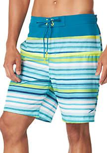 speedo® Two Tone Stripe Board Shorts