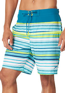 Two Tone Stripe Board Shorts